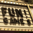 Fun Games Neon Sign Letters — Stock Photo
