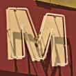Royalty-Free Stock Photo: Painting of the letters M