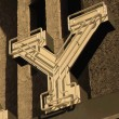 Painting of the letter Y — Stock Photo