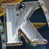 Pintura do k letras — Foto Stock