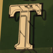 Painting of the letters T — Stock Photo