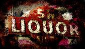 Drank grunge inloggen — Stockfoto