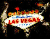 Welcome to Las Vegas Sign Grunge Retro — Stock Photo