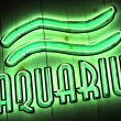 Royalty-Free Stock Photo: Aquarius Zodiac Sign in Neon Letters