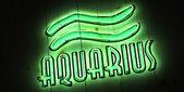 Aquarius Zodiac Sign in Neon Letters — Foto Stock