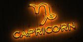 Capricorn Zodiac Sign in Neon Letters — Stock Photo
