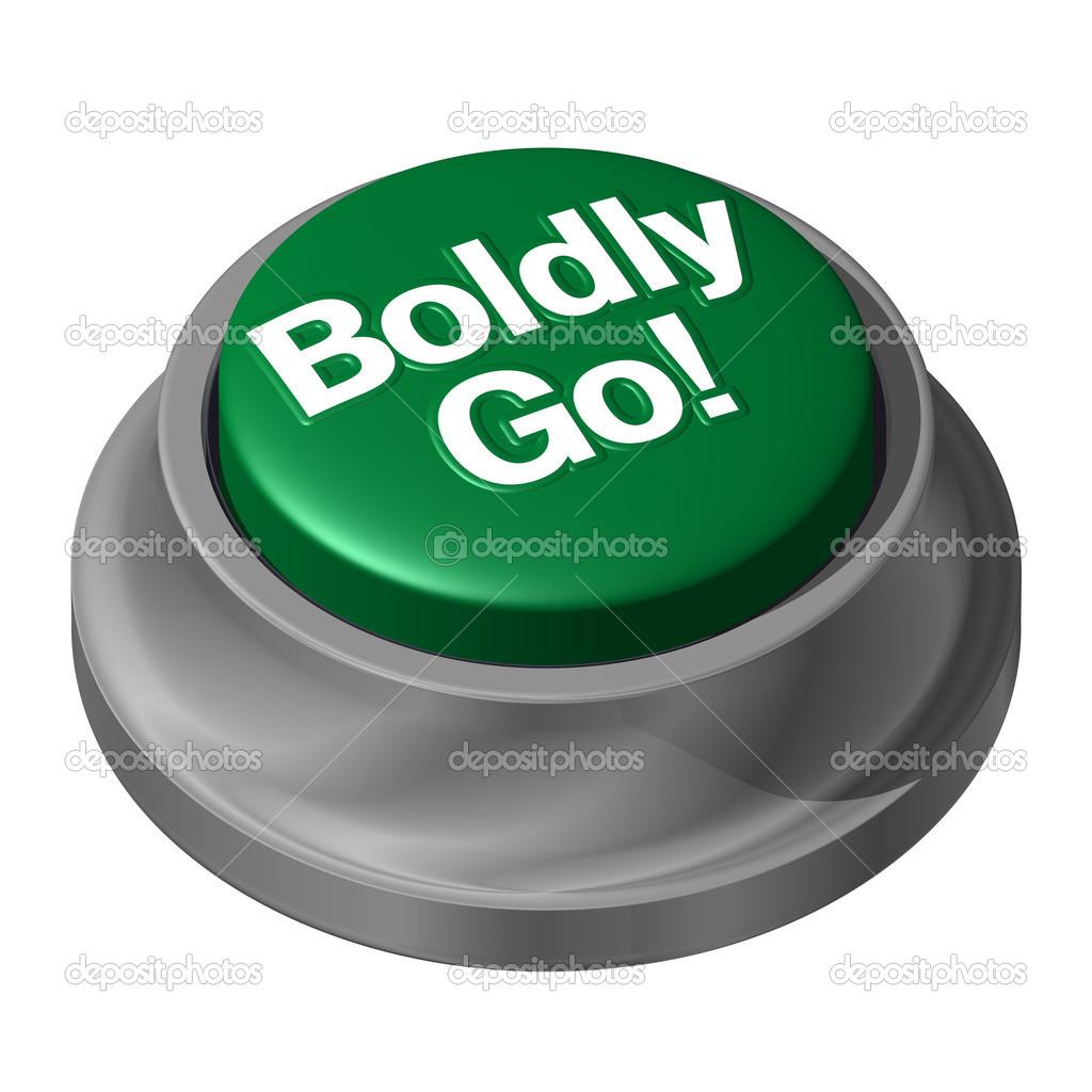 Boldly go green button take risk stock photo - Green button ...