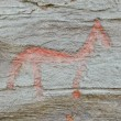 Petroglyph from Scandinavia — Stock Photo