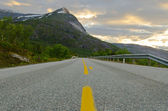 Road in northern Norway — Stock Photo