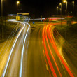 Stock Photo: Traffic at night