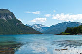 Fiorde norueguês — Foto Stock