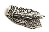 Czarno-białe rękawiczki — Zdjęcie stockowe