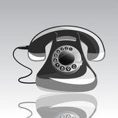 Vector telephone icon — Stock Vector