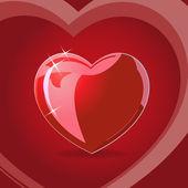 Illustration of red heart — Stock Vector