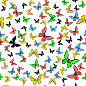 Colorful butterfly seamless pattern — Stock Photo