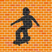 Skater shadow — Stock Photo
