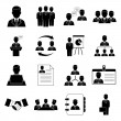 Human resources and management icons — Stock Vector #31853001