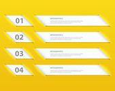 Plantilla de diseño moderno infografía opciones — Vector de stock
