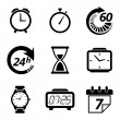 Clock and time icons — Stock Photo