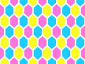 Modèle sans couture géométrique à six pans creux — Vecteur
