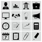 бизнес иконки — Cтоковый вектор