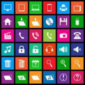 Media icons in Flat Metro Style — Stock Vector
