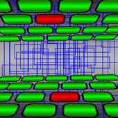 Yeşil ve kırmızı dikdörtgenler — Stok fotoğraf
