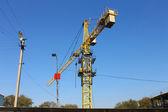 Highrise crane — Stock Photo