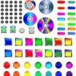 Assorted icons and buttons — Stock Vector #14121174