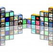 Cubic media — Stock Photo #15357817