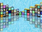Cubic media — Stock Photo