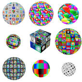 Collection of web spheres — Stockfoto