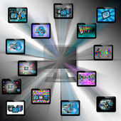 Abstraction tablets — Stock Photo