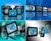 Images of tablets — Stock Photo