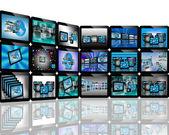 TV on the Internet — Stock Photo