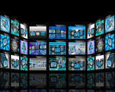 TV abstraction — Stock Photo