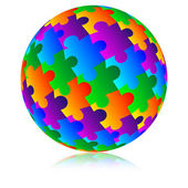 Sphere of the mosaic — Stock Photo