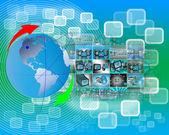 Touch-screen-oberfläche — Stockfoto