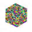 Cube with icons — Stock fotografie