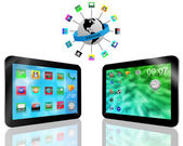 Two tablets — Stock Photo