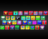 Interface of the web icons — 图库照片