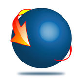 Ball and arrow 16.04.13 — Stock Photo
