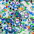 Stock Photo: Background of icons 18.04.13
