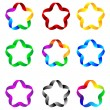 Stars of ribbons 23.04.13 — Stock Vector