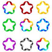 Estrelas de fitas 23.04.13 — Vetorial Stock