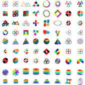 Mega set of logos 25.04.13 — Stock Vector