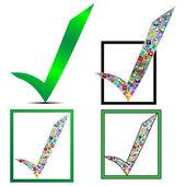 Check mark icon — Stock Vector