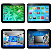 Set of four tablets 20.05.13 — Stock Photo
