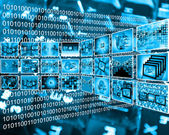 Interface and binary code 03.06.13 — Stock Photo