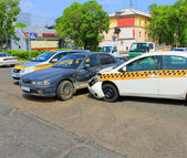 Cars after accident 09.06.13 — Stock Photo